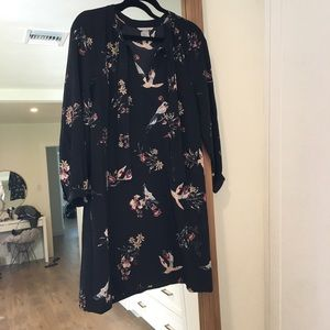 H&M Floral Bird Dress